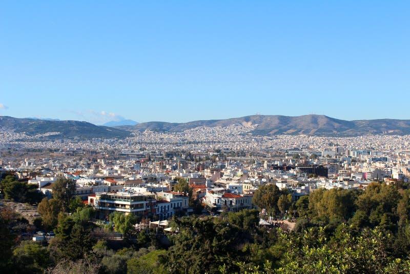 Stadtansicht von Athen, Griechenland stockbild