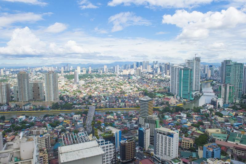 Stadtansicht von Manila lizenzfreie stockfotos