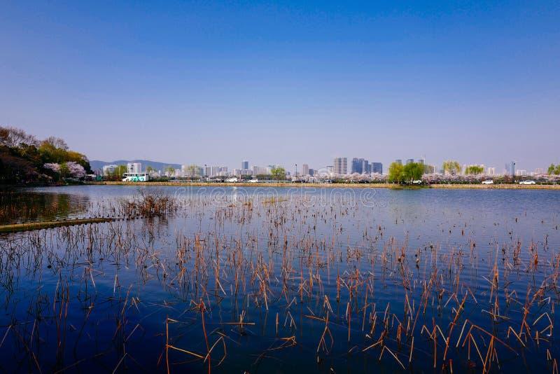 Stadtansicht von Wuxi, Porzellan stockfoto