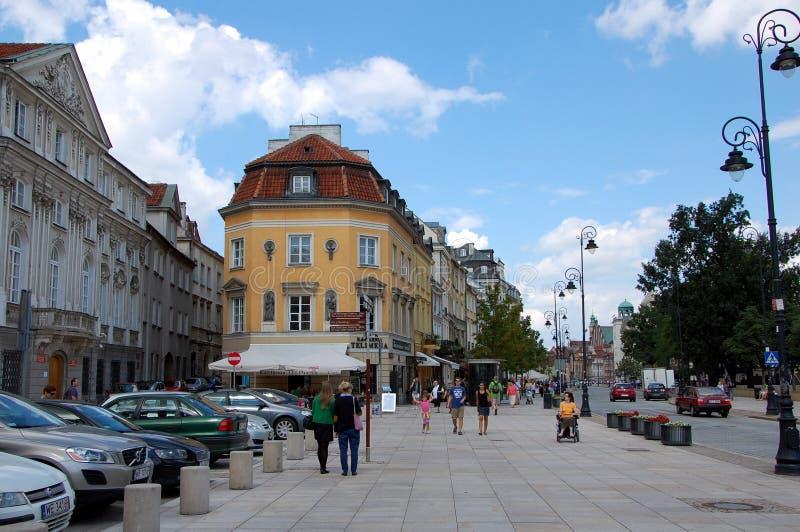 Stadtansichten von Warschau lizenzfreie stockbilder