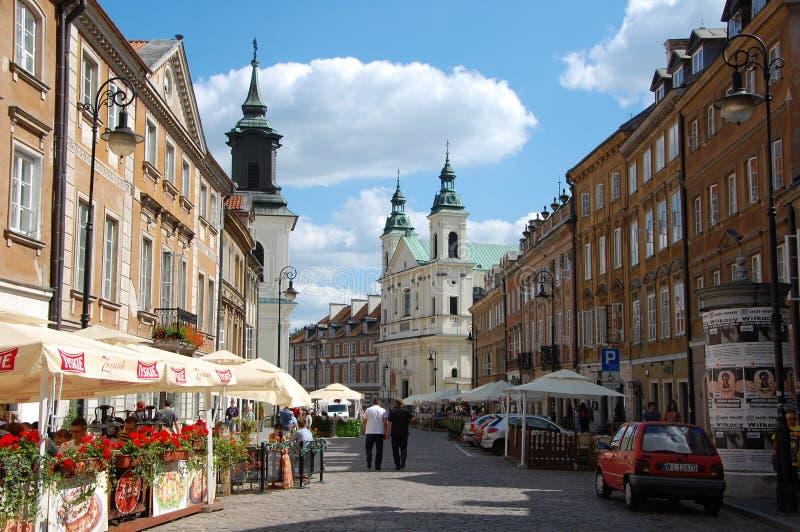 Stadtansichten von Warschau stockbild