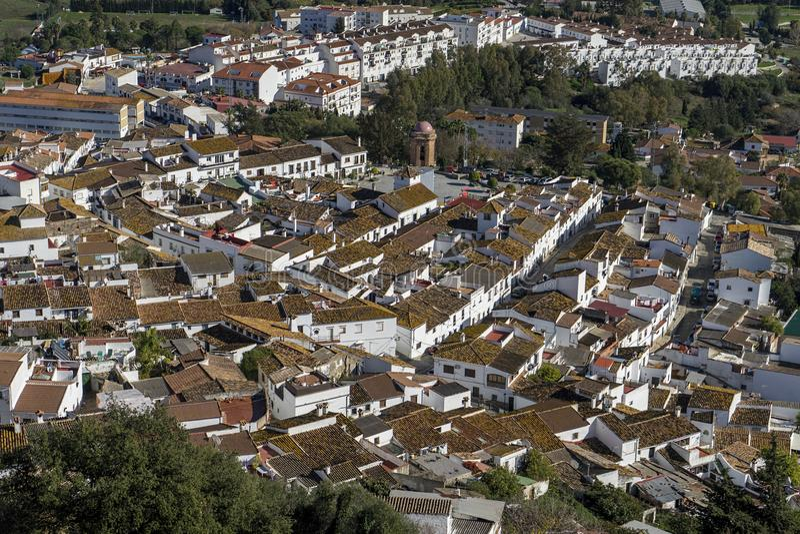 Stadtbezirke der Provinz von Cadiz, Jimena de la Frontera, Spanien stockbild