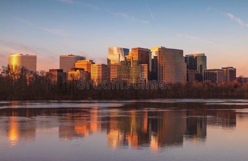 Stadtbild Arlington County Virginia Reflections lizenzfreie stockfotos