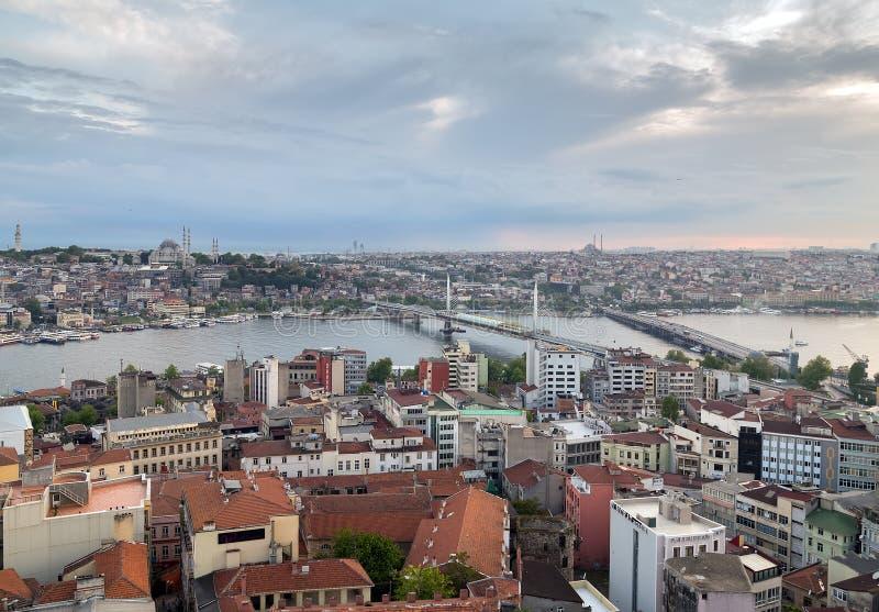 Stadtbild der alten Stadt, Panoramablick des goldenen Horns von GA stockfotos