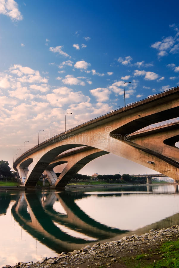 Stadtbild der Brücke stockfotografie