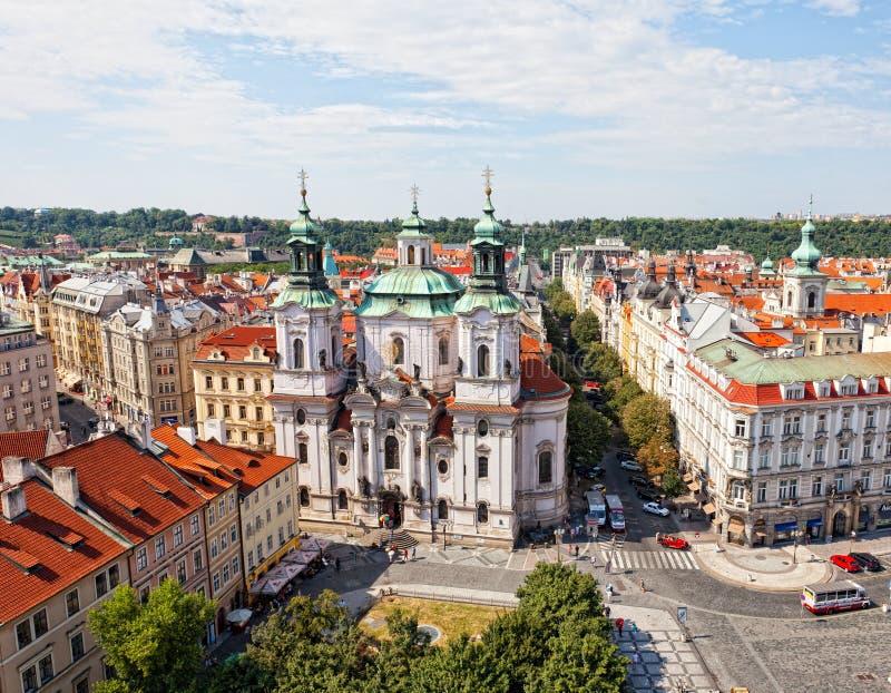Stadtbild des alten Marktplatzes in Prag lizenzfreie stockfotografie