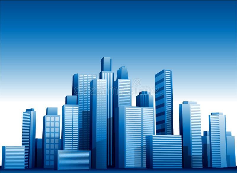 Stadtbild-Gebäudehintergrund des Vektors 3d lizenzfreie abbildung