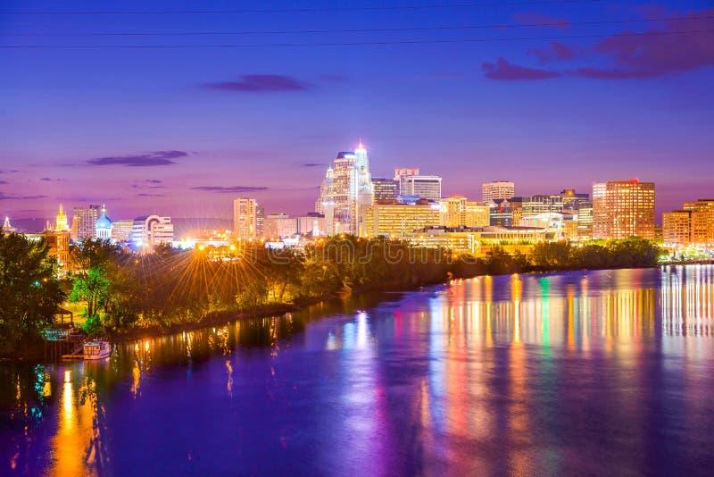 Stadtbild Hartfords Connecticut lizenzfreie stockfotografie