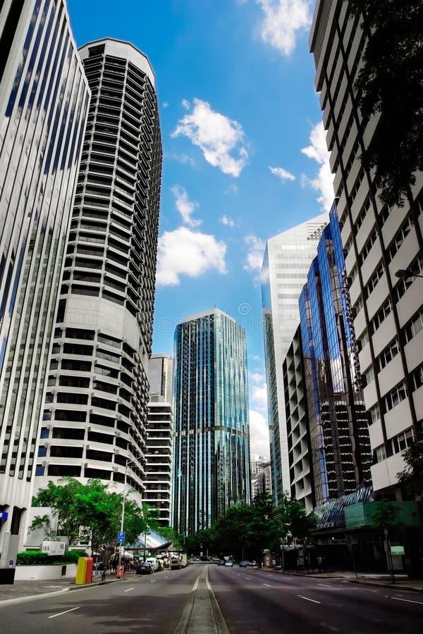 Stadtbild mit Wolkenkratzern stockfotos