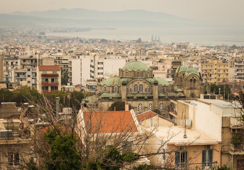 Stadtbild in Patras, Peloponnes, Griechenland stockfotos