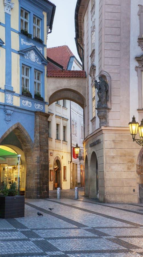 Stadtbild in Prag im Herbst, Tschechische Republik stockfotografie