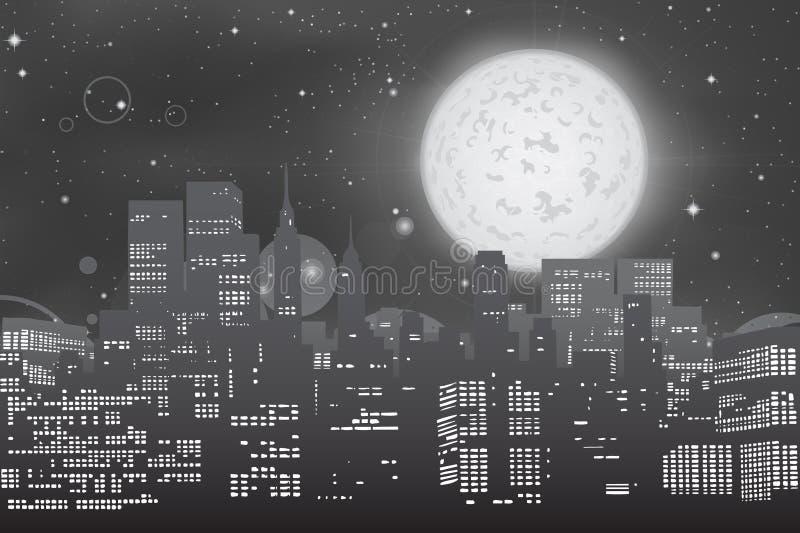 Stadtbild-Skyline stock abbildung