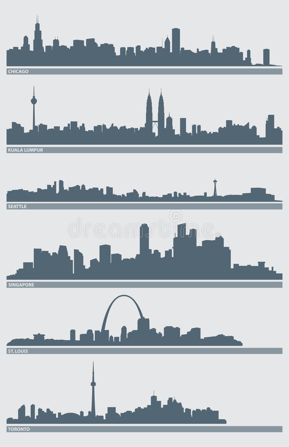 Stadtbild-Skyline-Vektor
