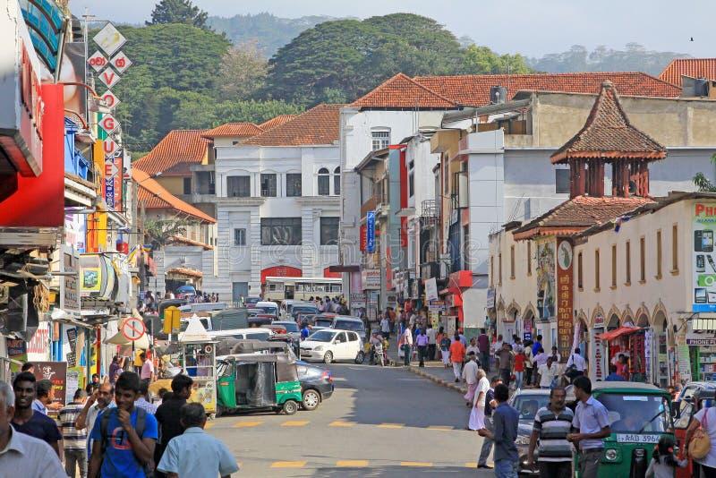 Stadtbild Sri Lankas Kandy stockbild