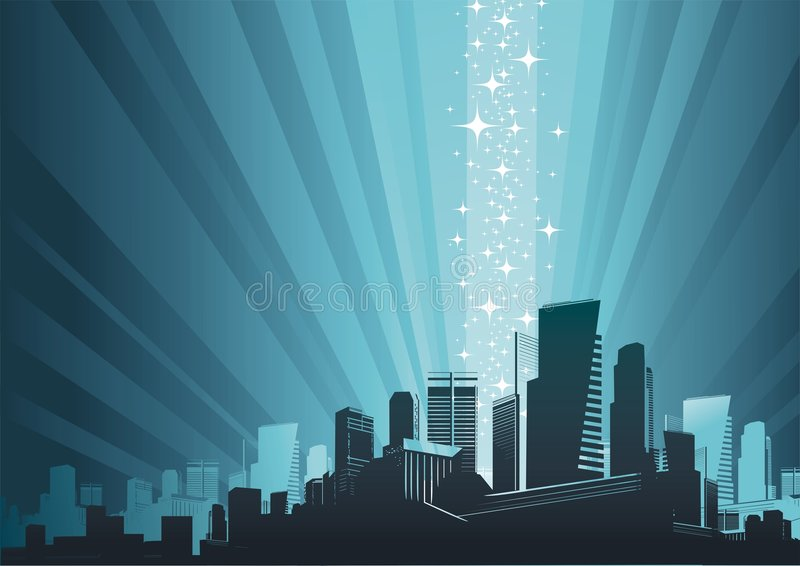 Stadtbild- u. Magiephänomen lizenzfreie abbildung