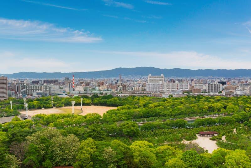 Stadtbild und Skyline von Osaka-Stadt in Japan lizenzfreie stockfotografie