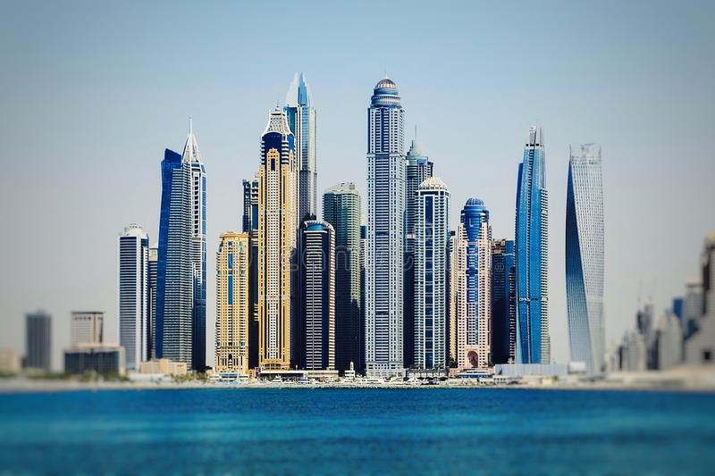 Stadtbild in Vereinigte Arabische Emirate stockfotos