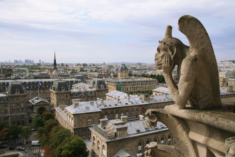 Stadtbild vom Notre Dame de Paris stockbilder