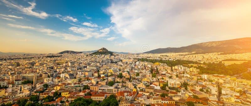 Stadtbild von Athen von der Akropolise stockbild