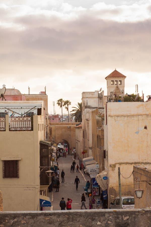 Stadtbild von EL Jadida - Marokko stockbild