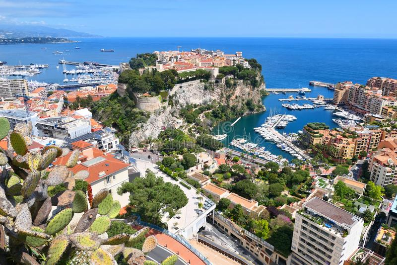 Stadtbild von F?rstentum Monaco stockbild