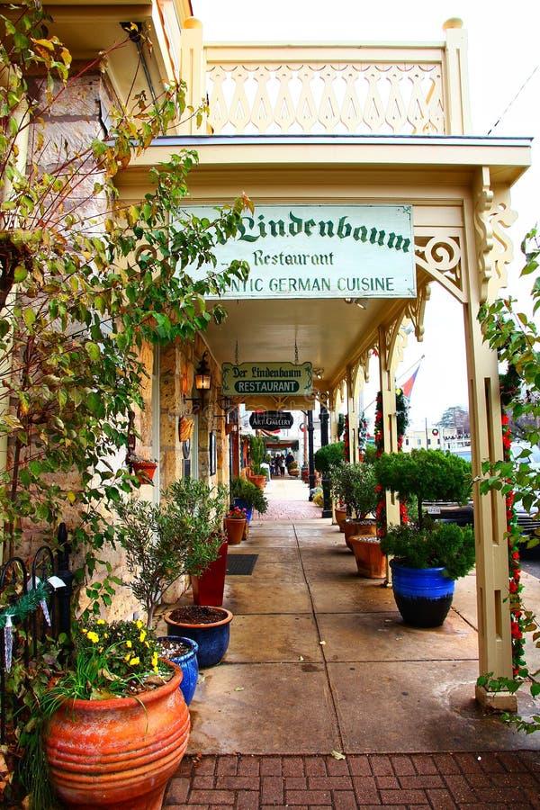 Stadtbild von Fredericksburg, Texas, USA lizenzfreie stockbilder