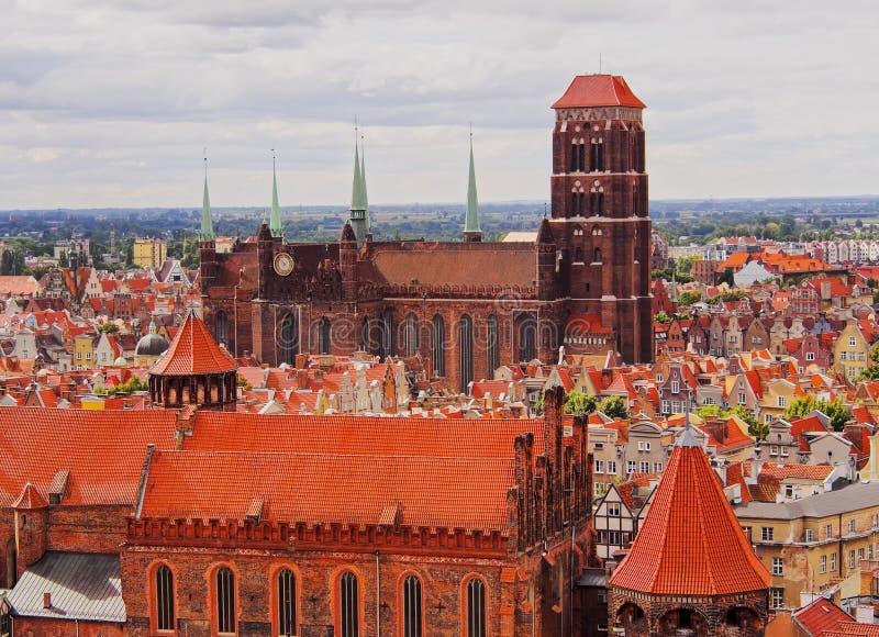 Stadtbild von Gdansk, Polen lizenzfreies stockfoto