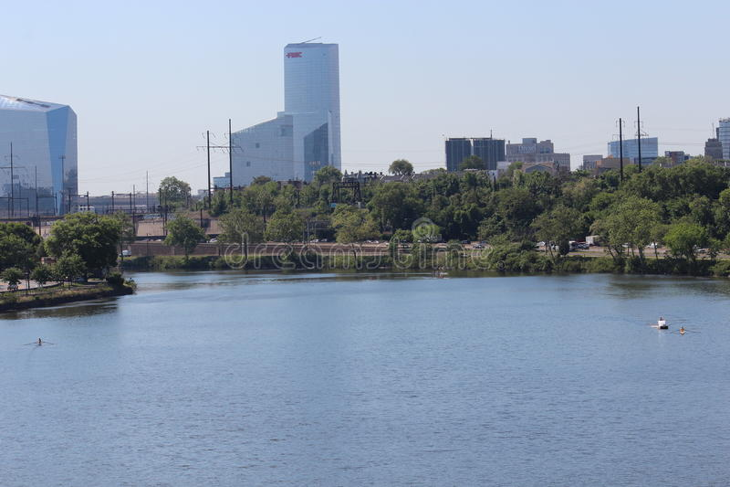 Stadtbild von im Stadtzentrum gelegenem Philadelphia, Pennsylvania lizenzfreies stockbild
