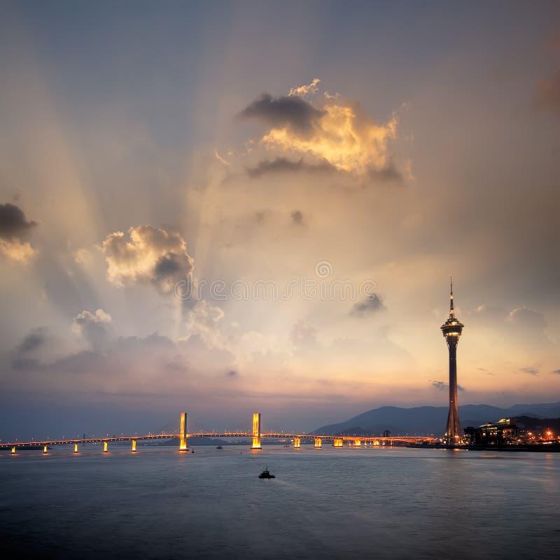 Stadtbild von Macau stockfotos