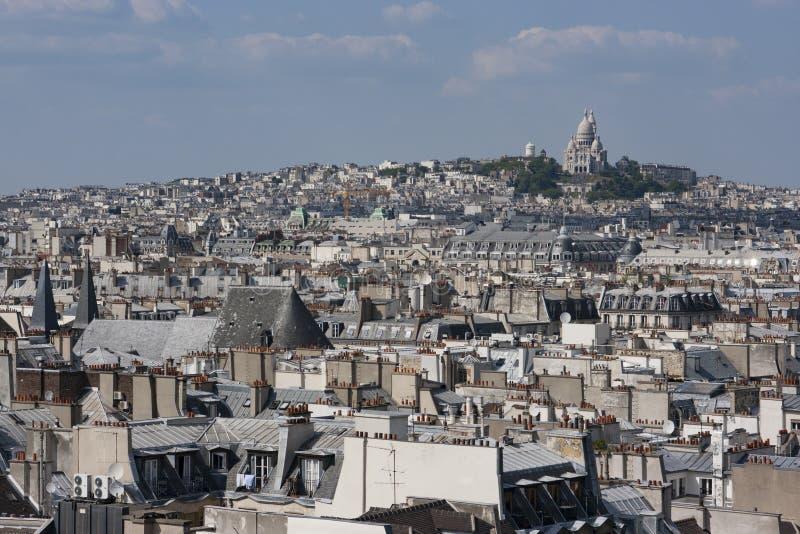 Stadtbild von Montmartre, Paris lizenzfreie stockfotos