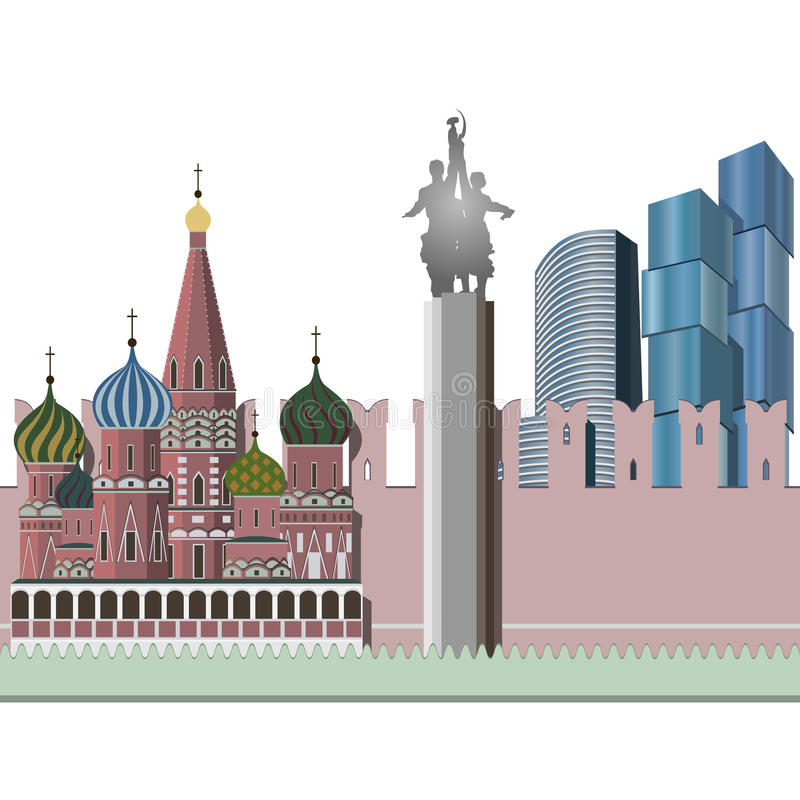 Stadtbild von Moskau stock abbildung