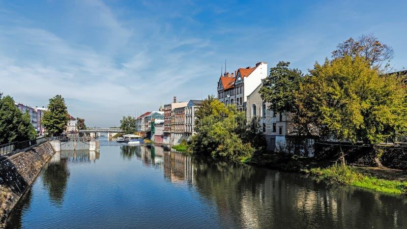 Stadtbild von Opole lizenzfreie stockfotos