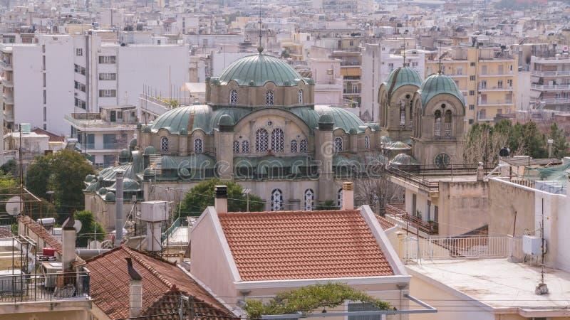 Stadtbild von Patras auf Peloponnes in Griechenland lizenzfreie stockbilder