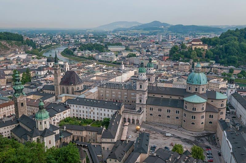 Stadtbild von Salzburg-Stadt lizenzfreies stockfoto
