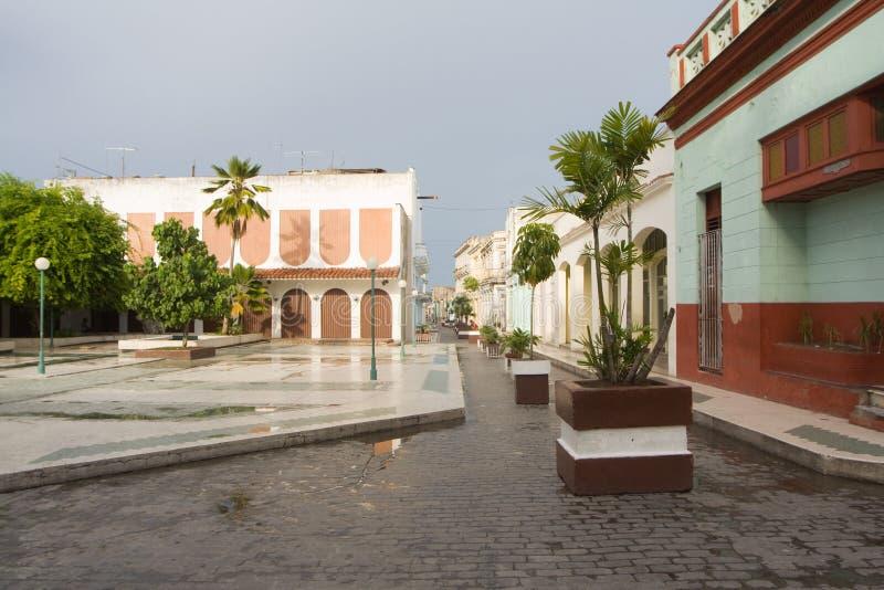 Stadtbild von Santa- Clarastadt (i) lizenzfreies stockbild