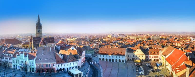 Stadtbild von Sibiu, Rumänien stockbild