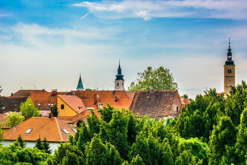 Stadtbild von Varazdin, Kroatien lizenzfreie stockfotos