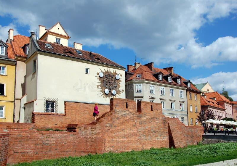 Stadtbild von Warschau stockfotos