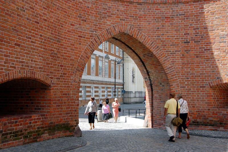 Stadtbild von Warschau stockbilder
