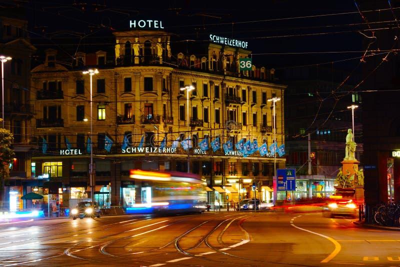 Stadtbild von Zürich, die Schweiz lizenzfreie stockbilder