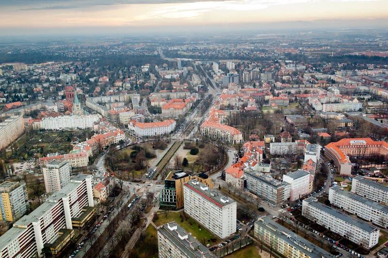 Stadtbildansicht von Breslau stockbilder