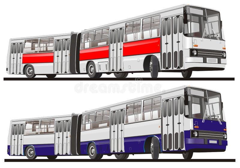 Stadtbus artikuliert stock abbildung