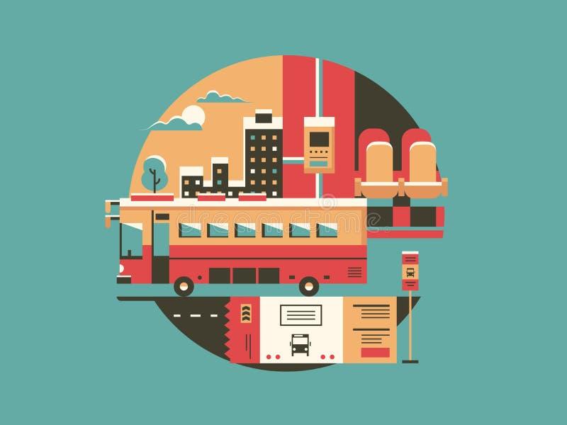 Stadtbus-Begriffsikone lizenzfreie abbildung