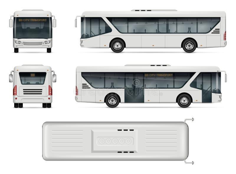 Stadtbus-Vektormodell lizenzfreie abbildung
