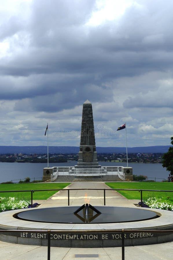 Stadtdenkmal Australien-Perth zum Tod lizenzfreie stockfotografie