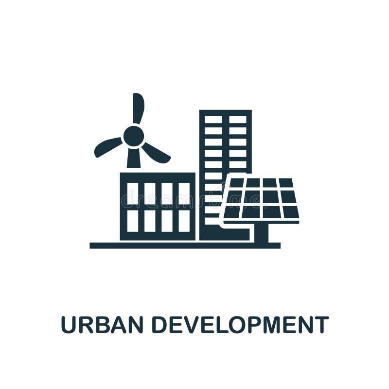 Stadtentwicklungsikone Erstklassiger Artentwurf von der Urbanismikonensammlung UI und UX Pixel-perfekte Stadtentwicklungsikone fü vektor abbildung