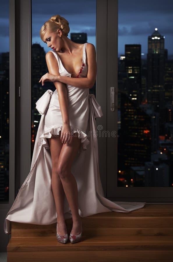 Stadtfrau stockbild