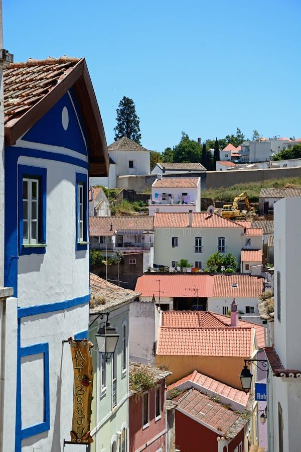 Stadtgebäude, Monchique lizenzfreies stockbild