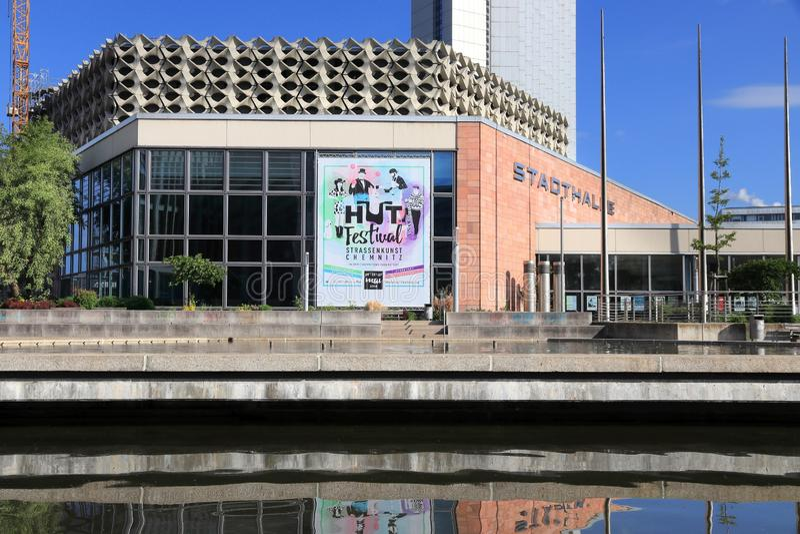 Stadthalle in Chemnitz royalty-vrije stock foto's