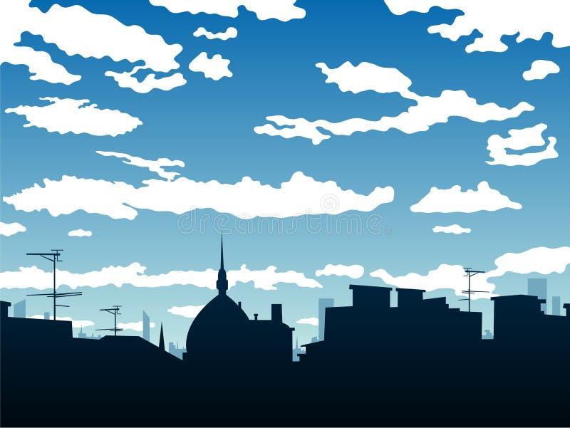 Download Stadthintergrund vektor abbildung. Illustration von blau - 12203464